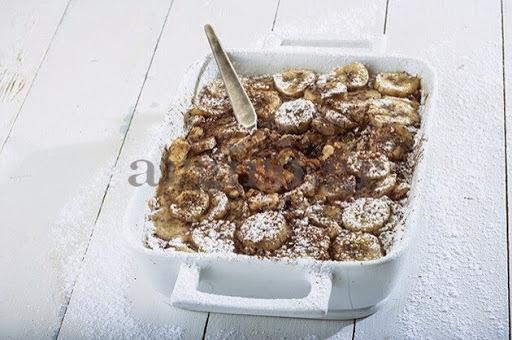 Πασχαλινή σοκομπανάνα με τρεμουλιαστή κρέμα και τσουρέκι ( Το Πρωινό 21.04.14)