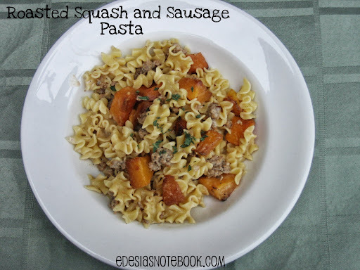 SRC: Roasted Squash and Sausage Pasta