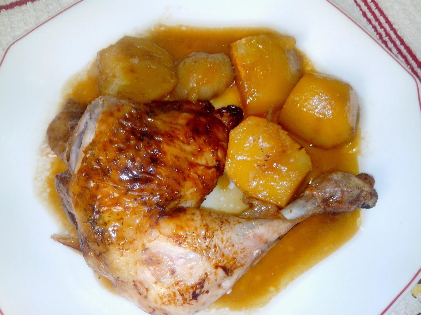 Pollo Asado con Salsa de Piña