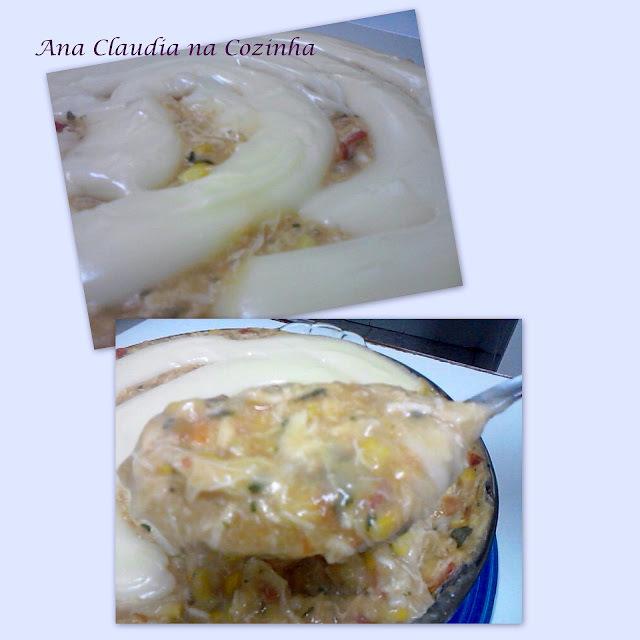 pate de frango com batata cozida e batata palha