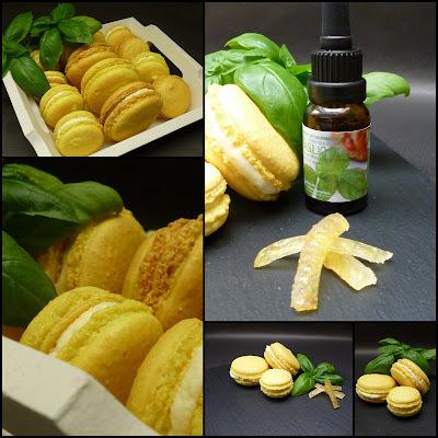 Macarons au citron et basilic
