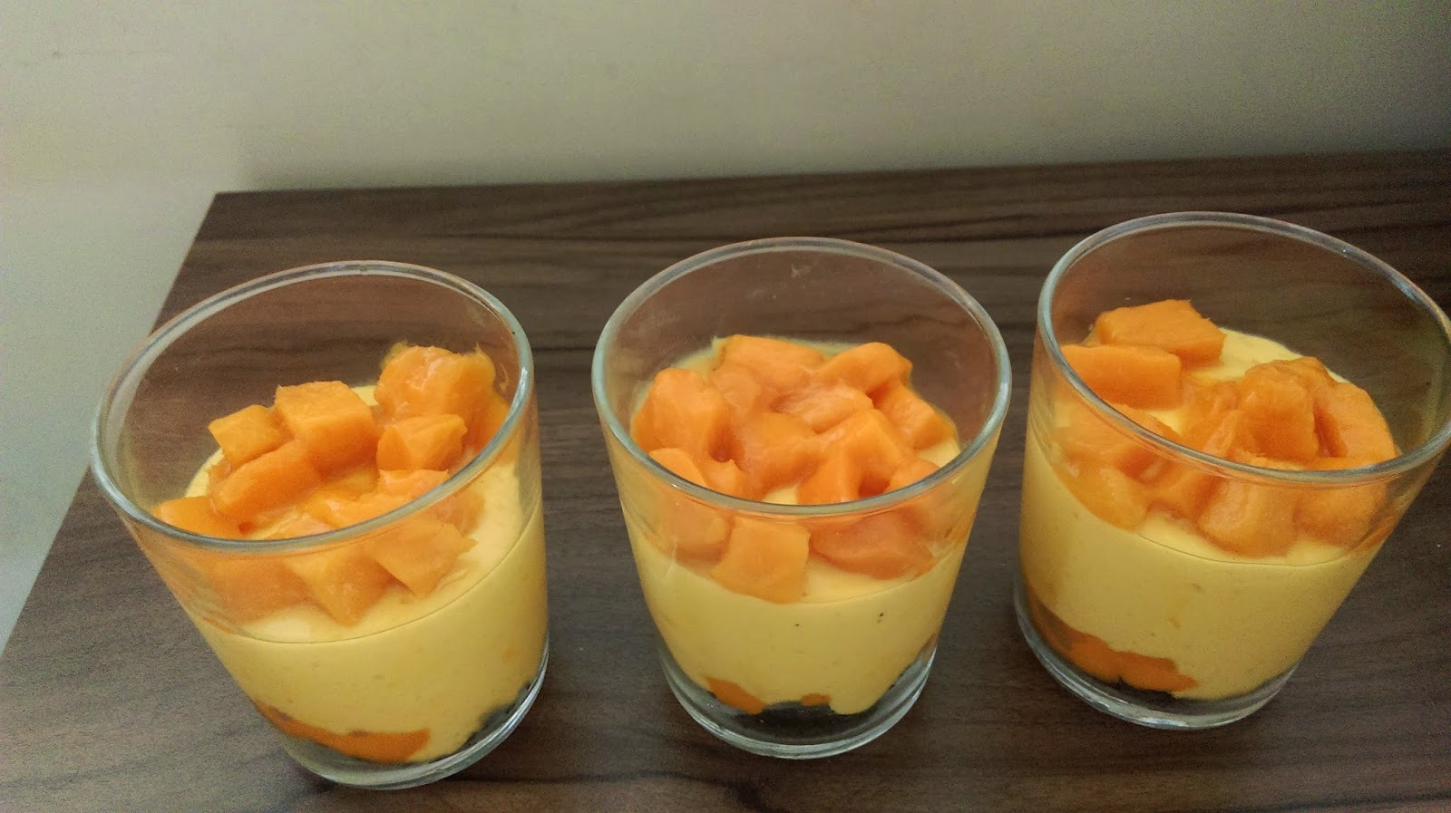 mango mousse with agar agar