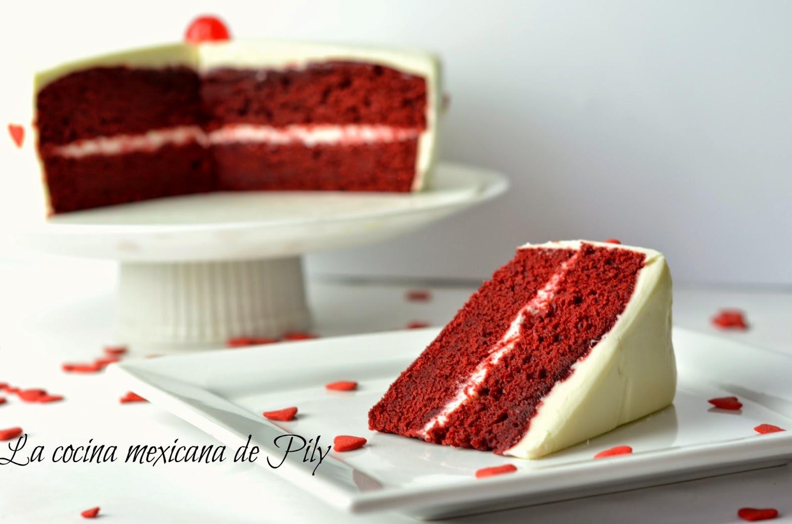 Pastel de Terciopelo Rojo o Red Velvet  ¡Mi mejor receta!