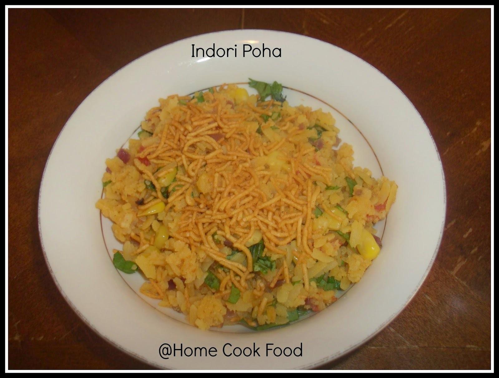 Indori Poha (Indore style Poha) Flatten rice dish