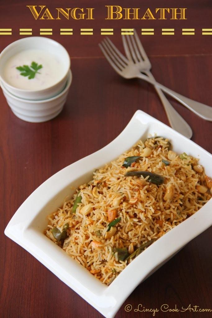 Vangi Bhath/ Egg Plant Rice/ Brinjal Rice