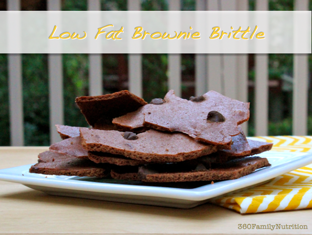 Low Fat Brownie Brittle