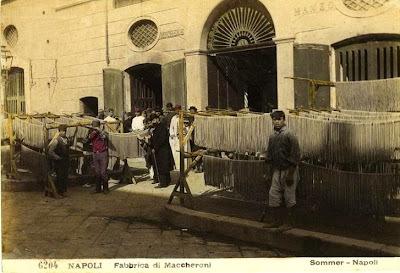 Fabricação de macarrão - século XIX-XX