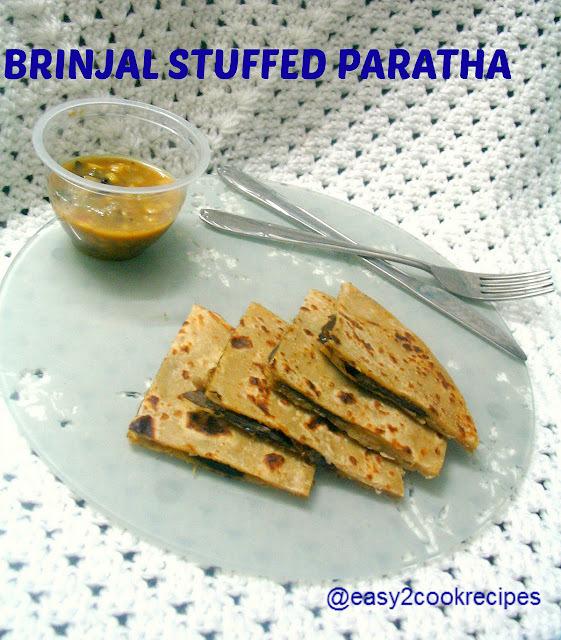 BRINJAL STUFFED PARATHA