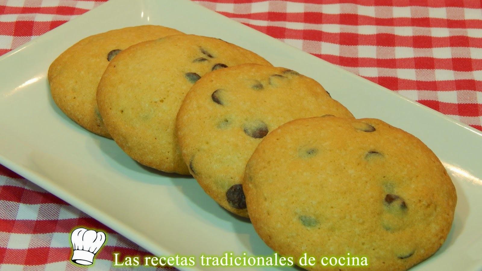 Galletas con pepitas de chocolate, receta fácil