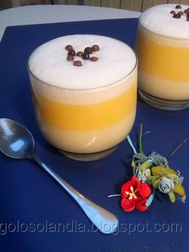 Crema  de piña y naranja, receta casera
