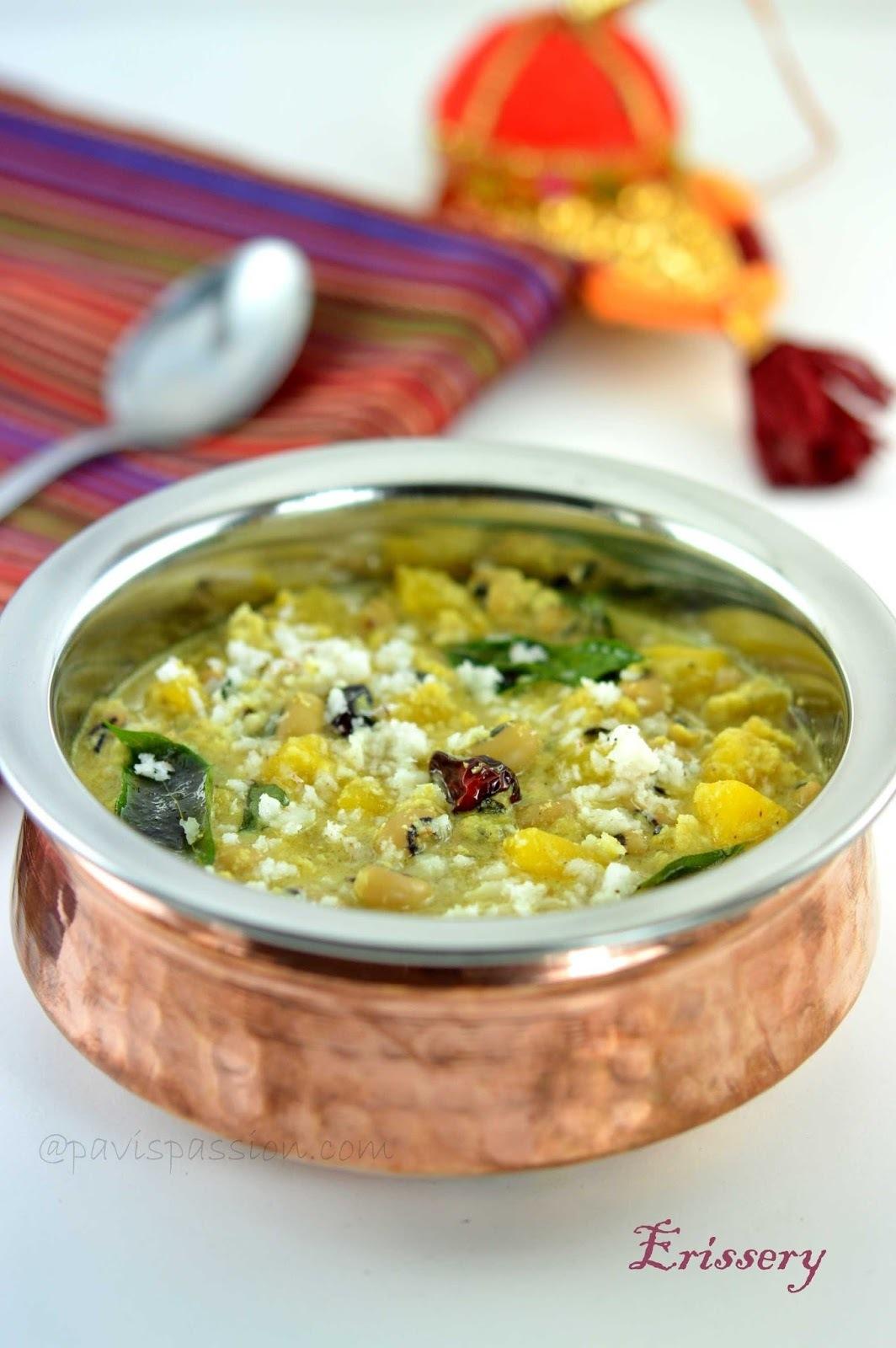 Erissery Recipe | Mathanga Vanpayar Erissery | Parangikai Karamani Kootu | Kerala Pumpkin Erissery