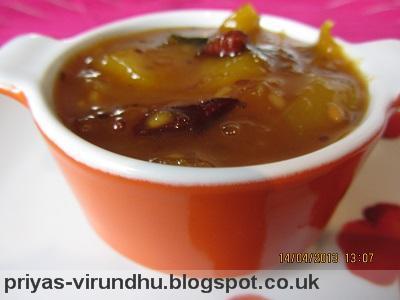 Mango Pachadi/Maangai Pachadi - Tamil New Year's Day Special