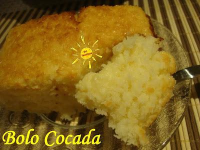 de bolo de trigo no liquidificador com leite condensado e leite de coco