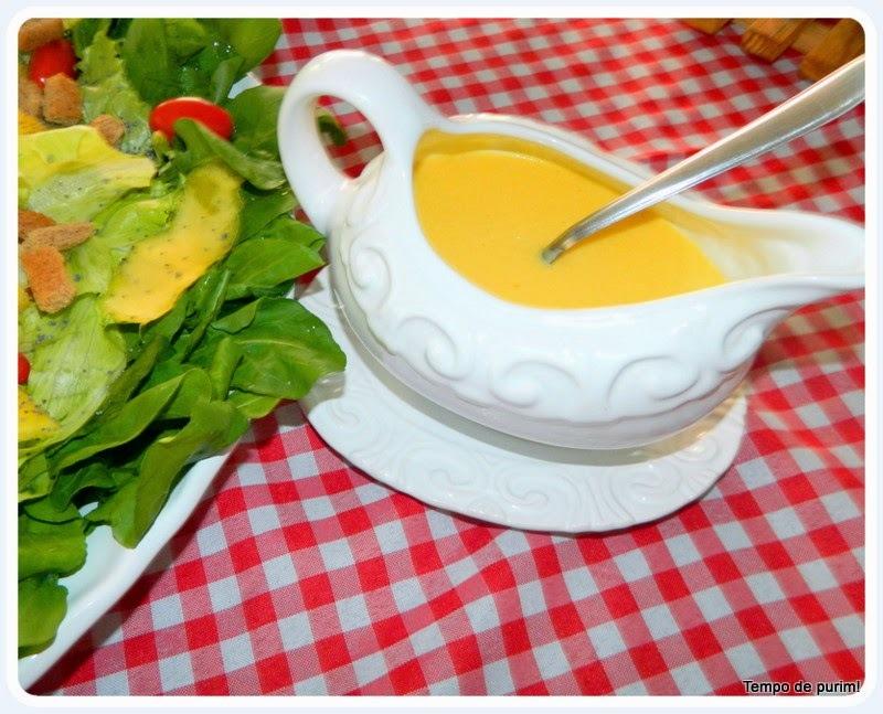 Molho de mostarda e laranja para saladas