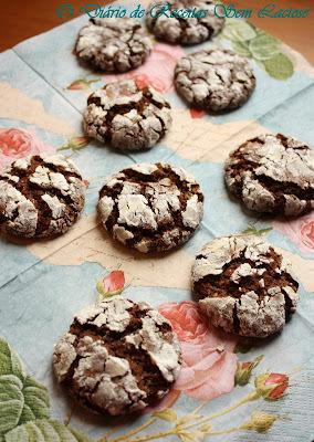 Cookies Texturizados de Chocolate Sem Lactose e Sem Ovos