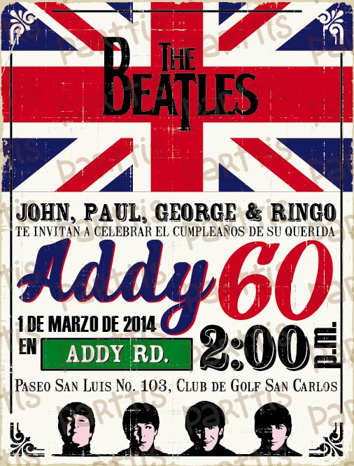 Fiesta de cumple de los Beatles :: ¡el tema perfecto para Addy!