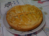 torta de frango com massa podre com gordura vegetal