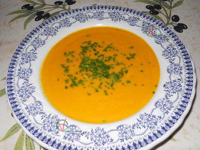 Crema de zanahoria, jengibre y coco