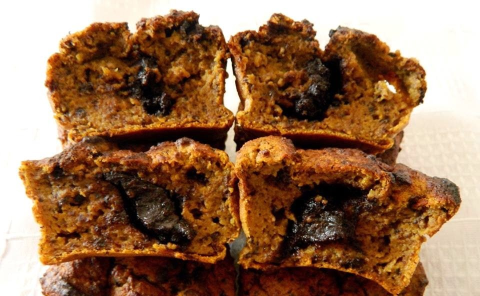Mogyoró-csokoládé paleo muffin