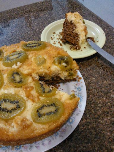 Receita de bolo fácil de kiwi