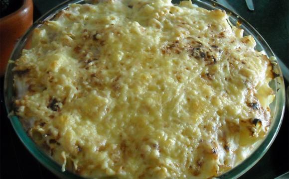 Pasta vegetariana gratinada
