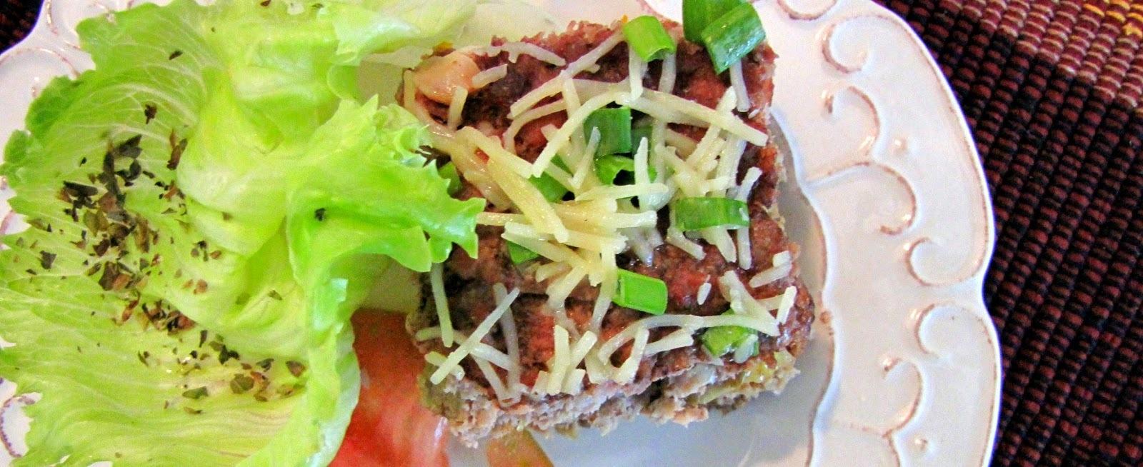 Bolo de Carne Recheado com Mix de Legumes