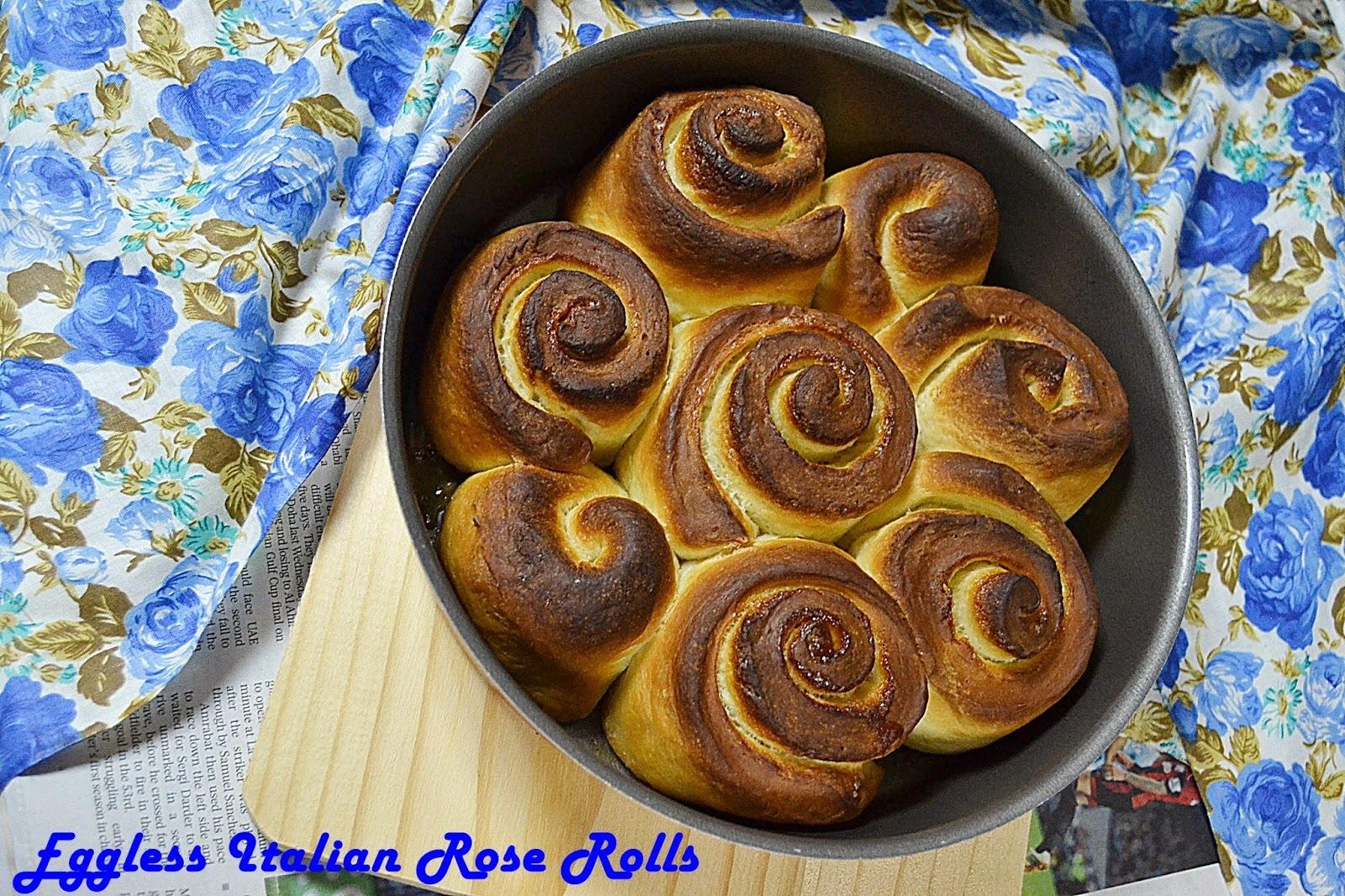 Eggless Italian Rose Cake ~ Torta de Rose