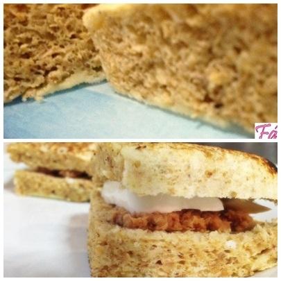 de pão para microondas sem ovo