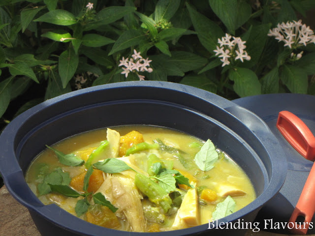 Miya Mikhri (Fermented Bamboo Shoots) with Pumpkin and Sponge Gourd