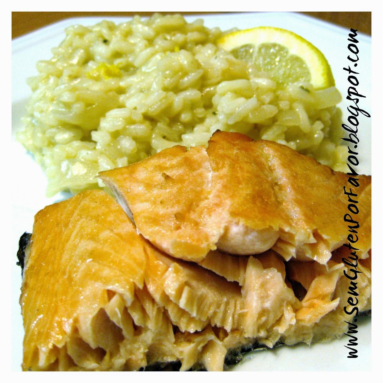 Receita de hoje: risoto de limão siciliano acompanhado de salmão