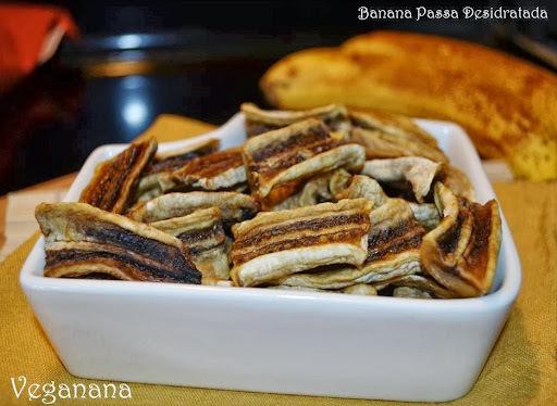 como fazer banana desidratada no forno