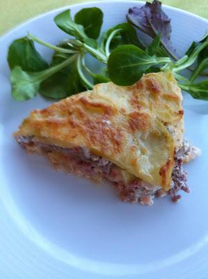 Pastel Gratinado De Patatas Y Carne Picada