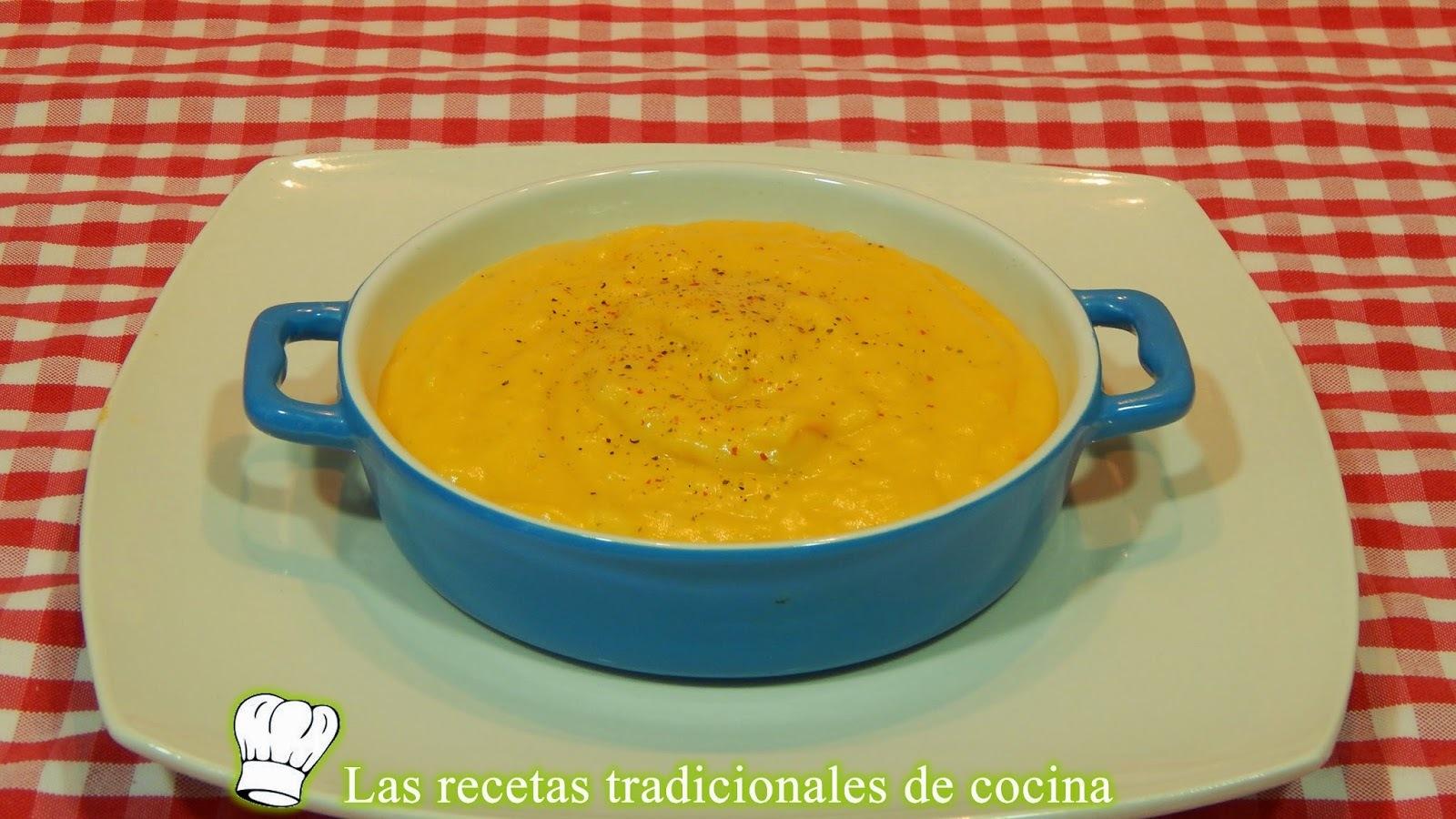 Receta de puré de calabaza y patatas