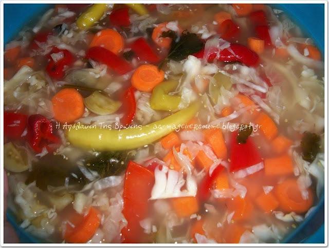 Τουρσί με διάφορα λαχανικά