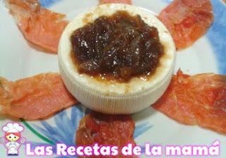 Receta de Queso de cabra con jamón y cebolla caramelizada