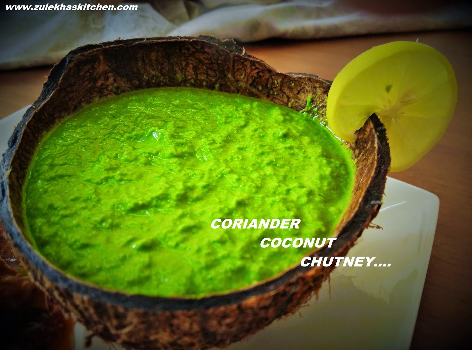 Recipe of Coriander Coconut Chutney