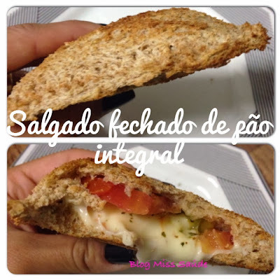 Salgado de pão de forma integral (salgado ou doce)