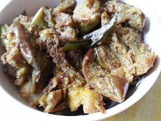 Kathirikkai Chops – Brinjal/Eggplant pepper masala