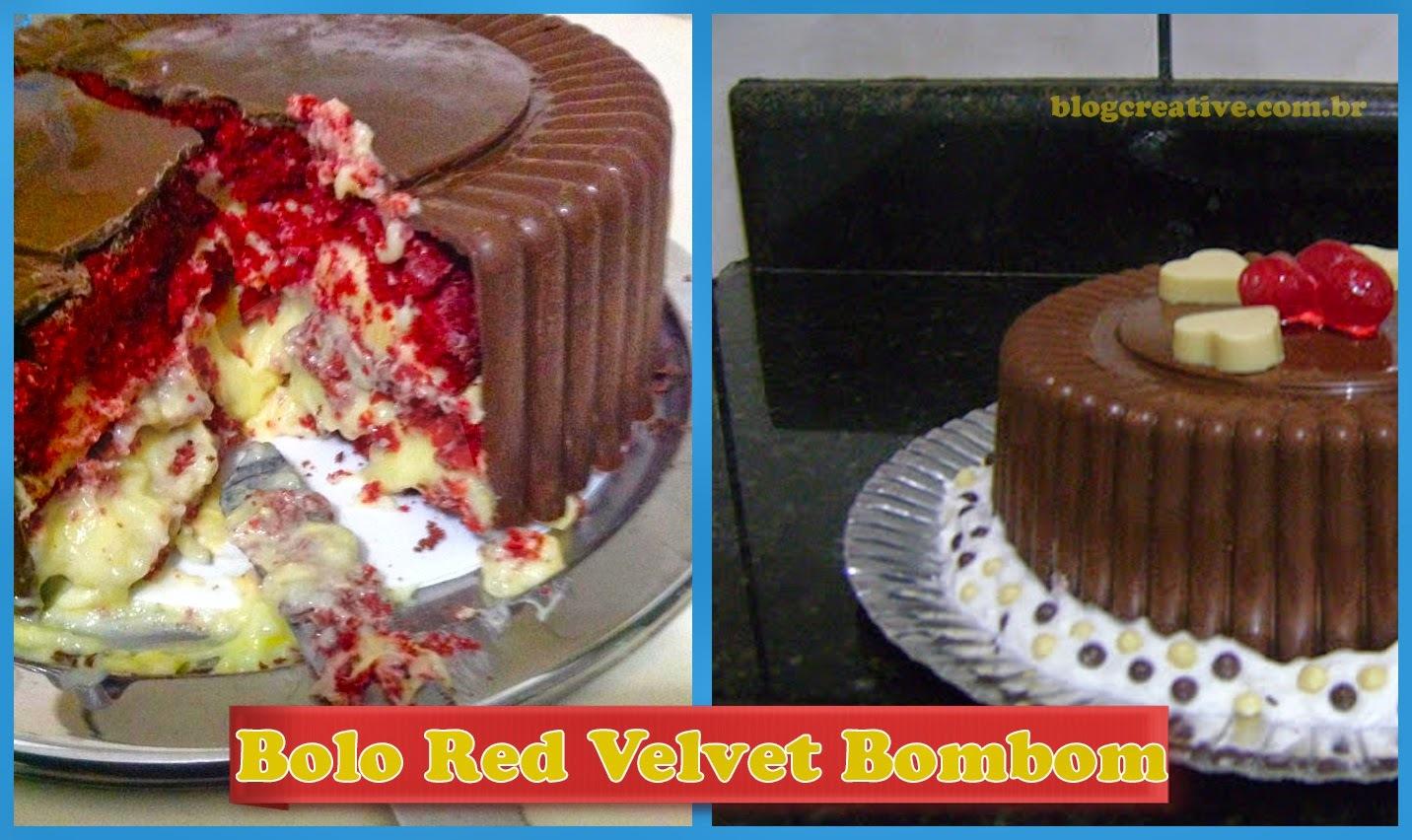 Bolo Red Velvet Bombom