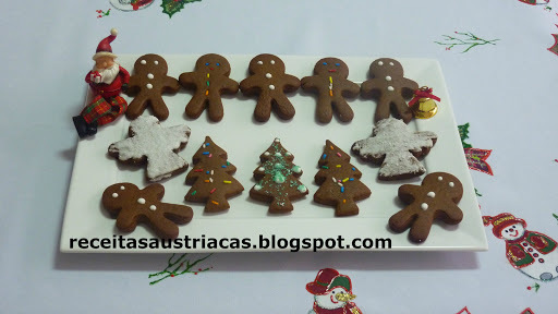 BOLACHA DE MEL BONECOS - Honigkuchenmännchen (Gingerbread Man)