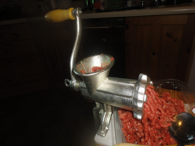My new toy, a mincer