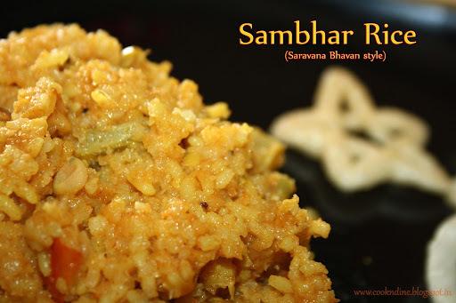Sambhar Sadham(Saravana Bhavan Style)