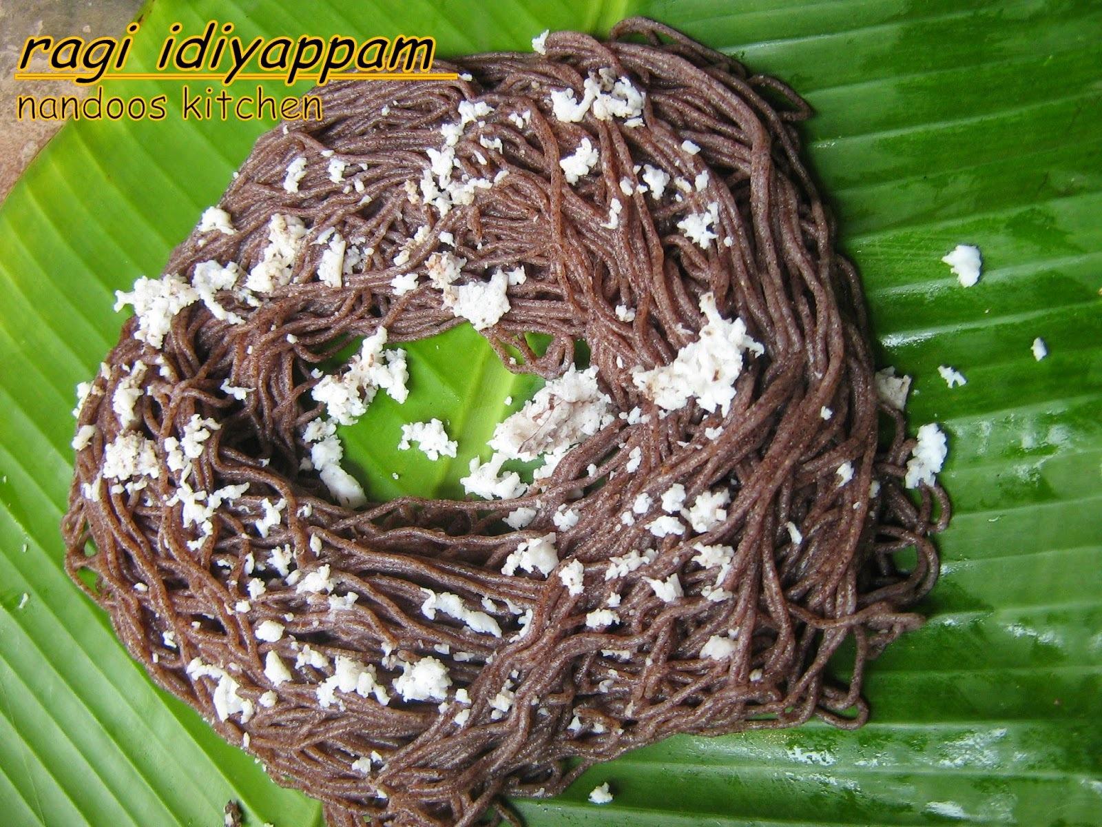 Ragi idiyappam / Finger millet string hoppers /
