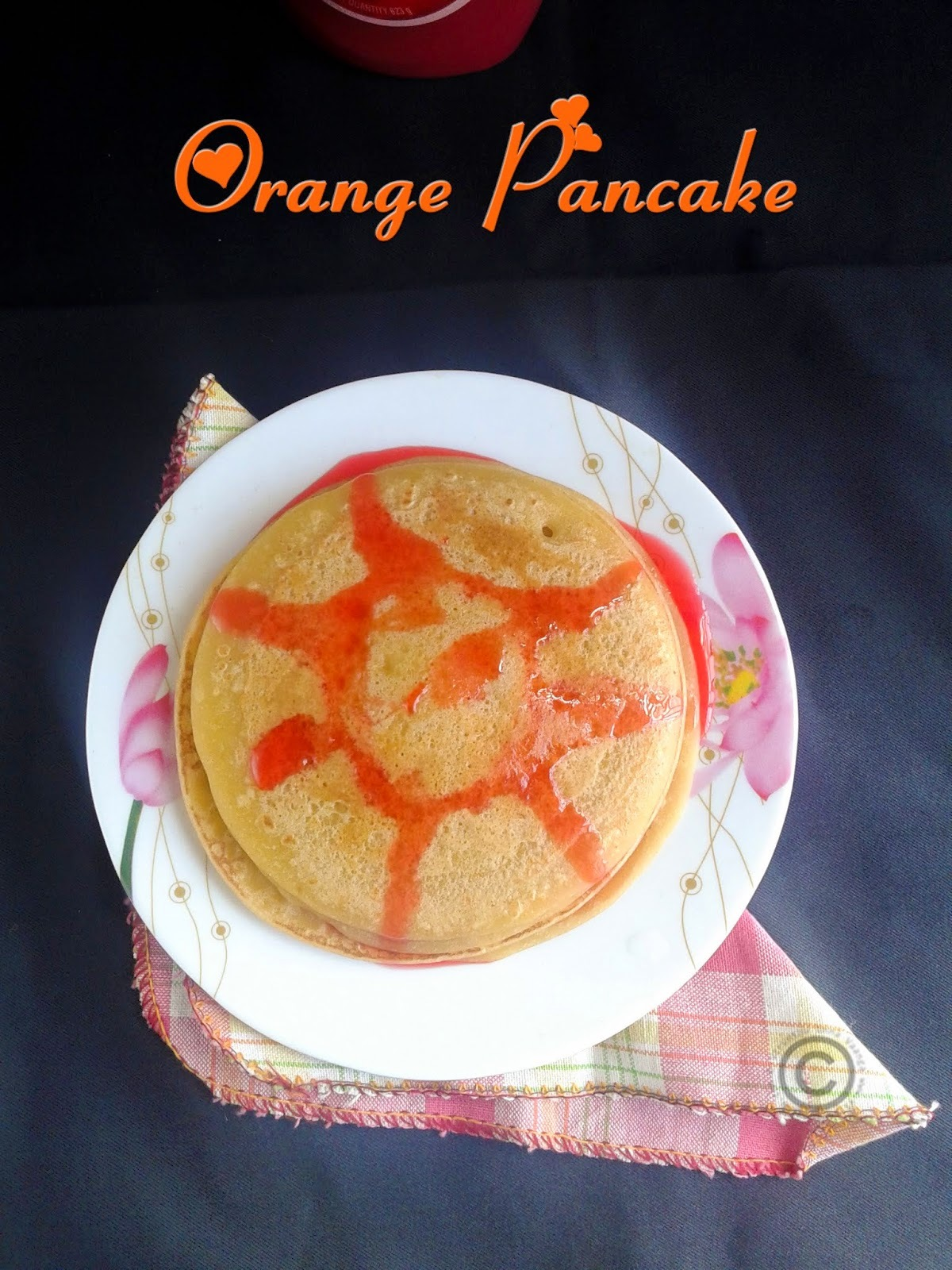 ORANGE PANCAKE - EGG LESS BUTTER LESS I FRUIT PANCAKE RECIPE I BREAKFAST RECIPES