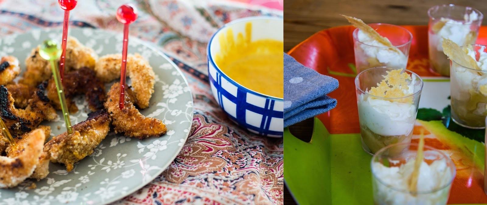 Verrines pomme chèvre /gambas sauce curry #battlefood 21