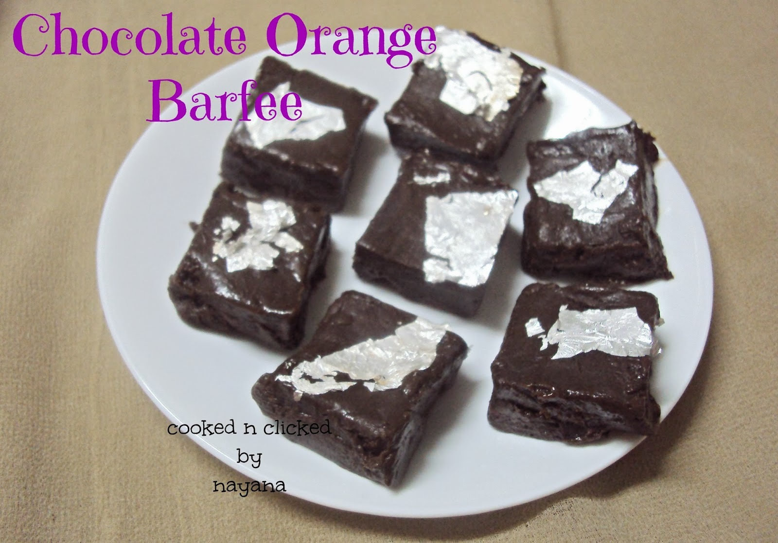 Chocolate Orange Barfi - For SFC