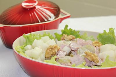 Salada de Presunto com Melão e Nozes