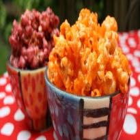 como fazer pipoca doce colorida