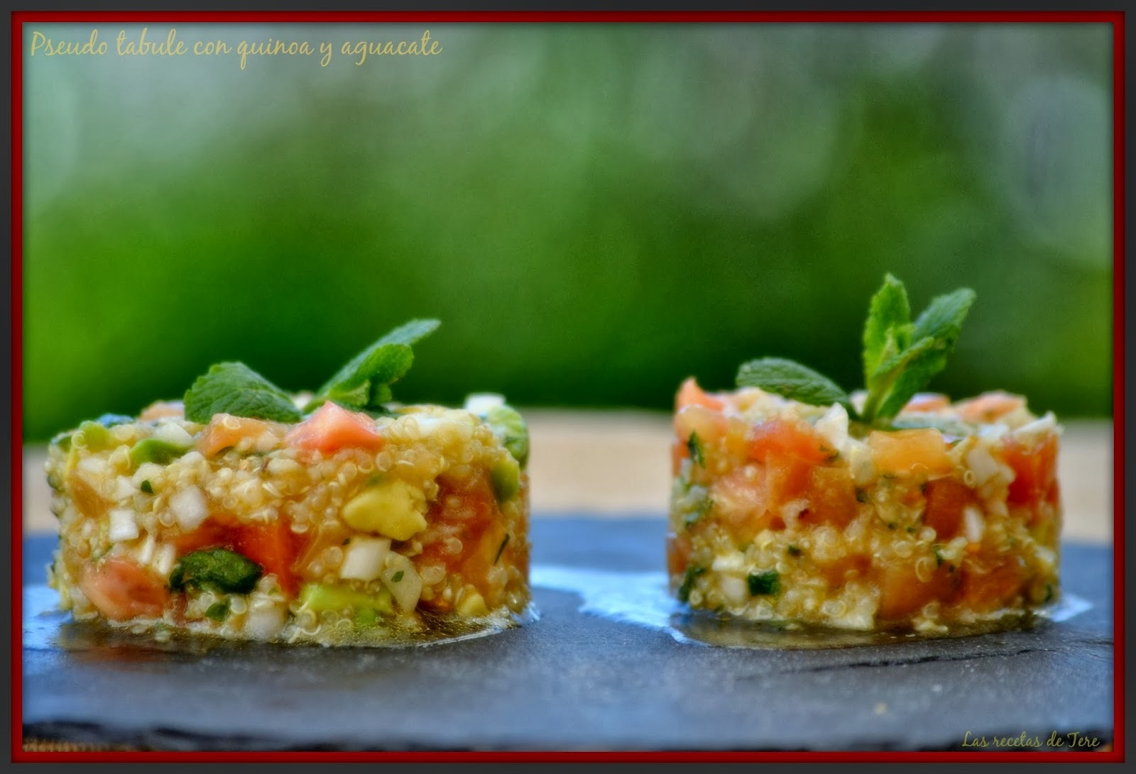 Pseudo tabule con quinoa y aguacate.