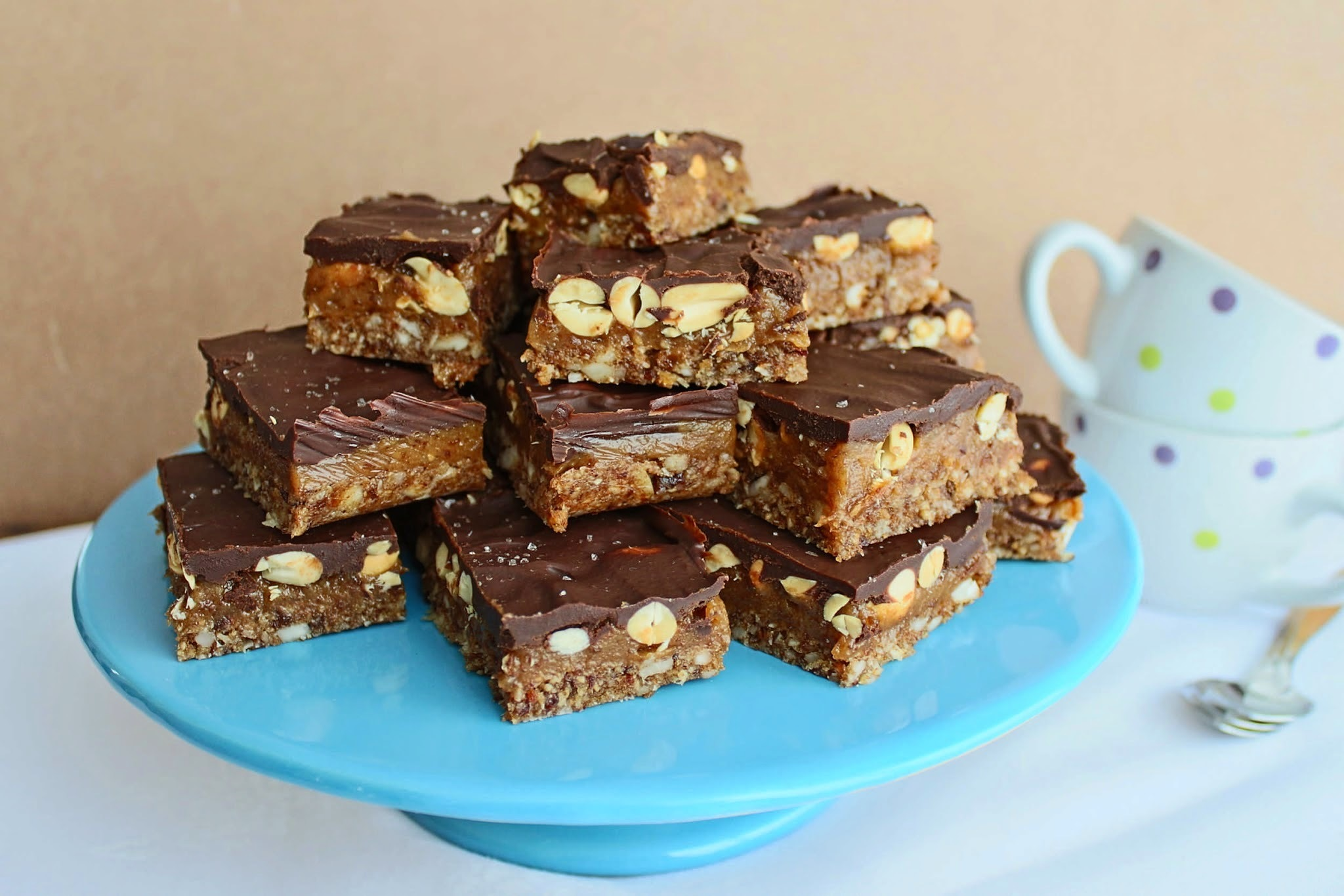 snickers caseiros (raw, vegano, sem glúten)